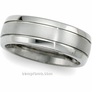8mm Ladies' Titanium Comfort Fit Wedding Band Ring (Size 7)