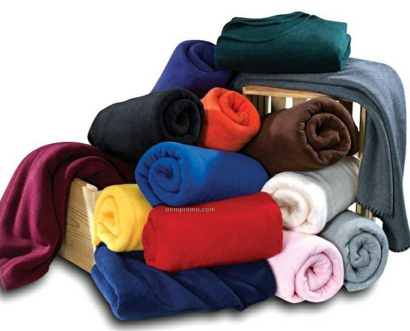 """Wolfmark Maroon Fleece Full Throw Blanket (50""""X60"""")"""