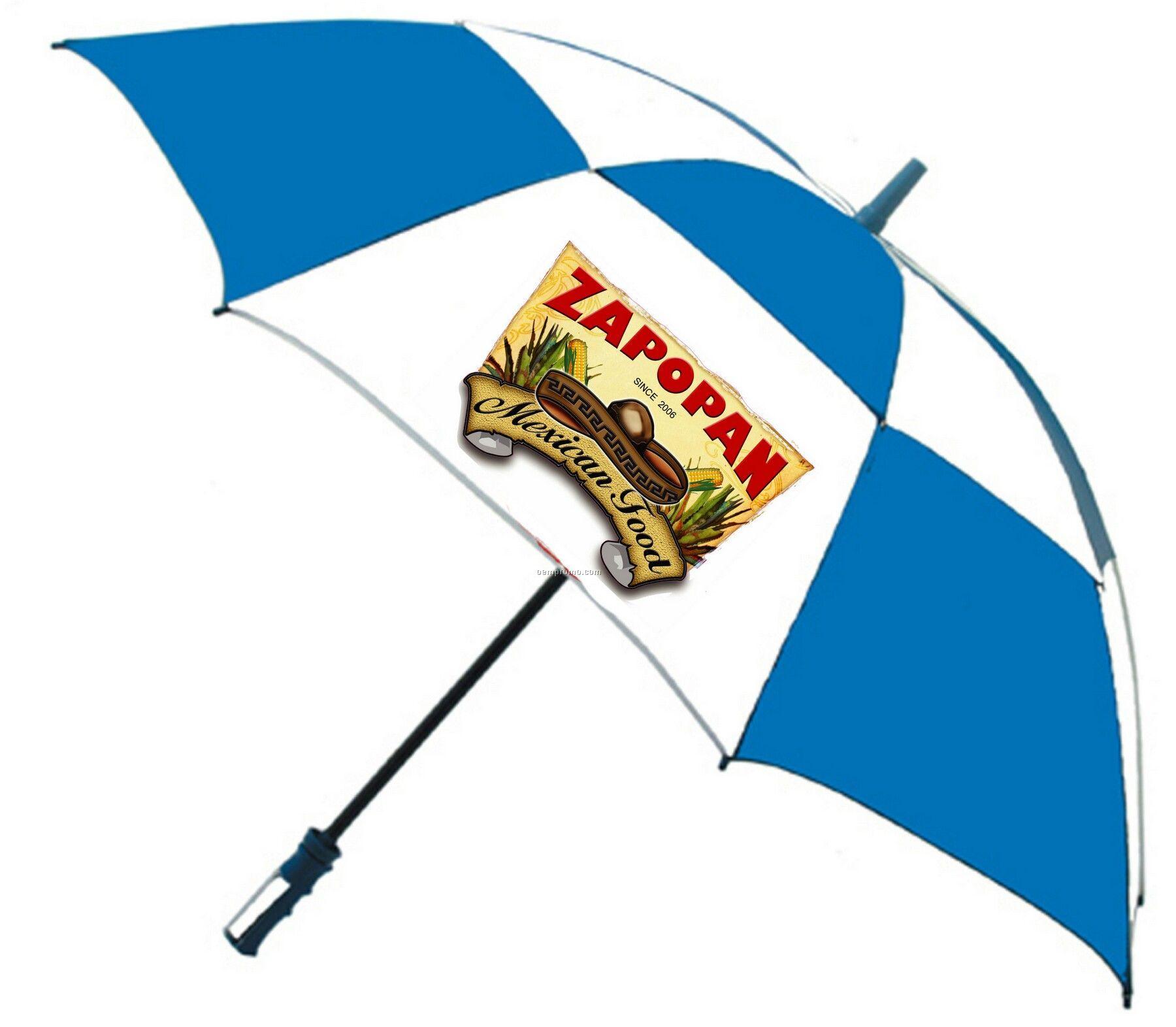 "62"" Golf Umbrella-vented, Fiberglass, Full Color Print--6 Day Production"