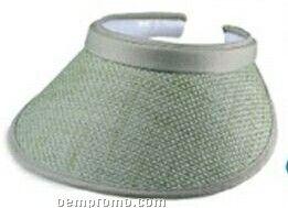 Straw Clip On Visor W/ Terry Sweatband