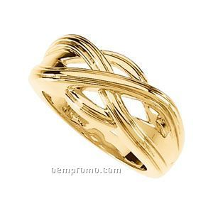 14ky 10mm Ladies' Metal Fashion Ring