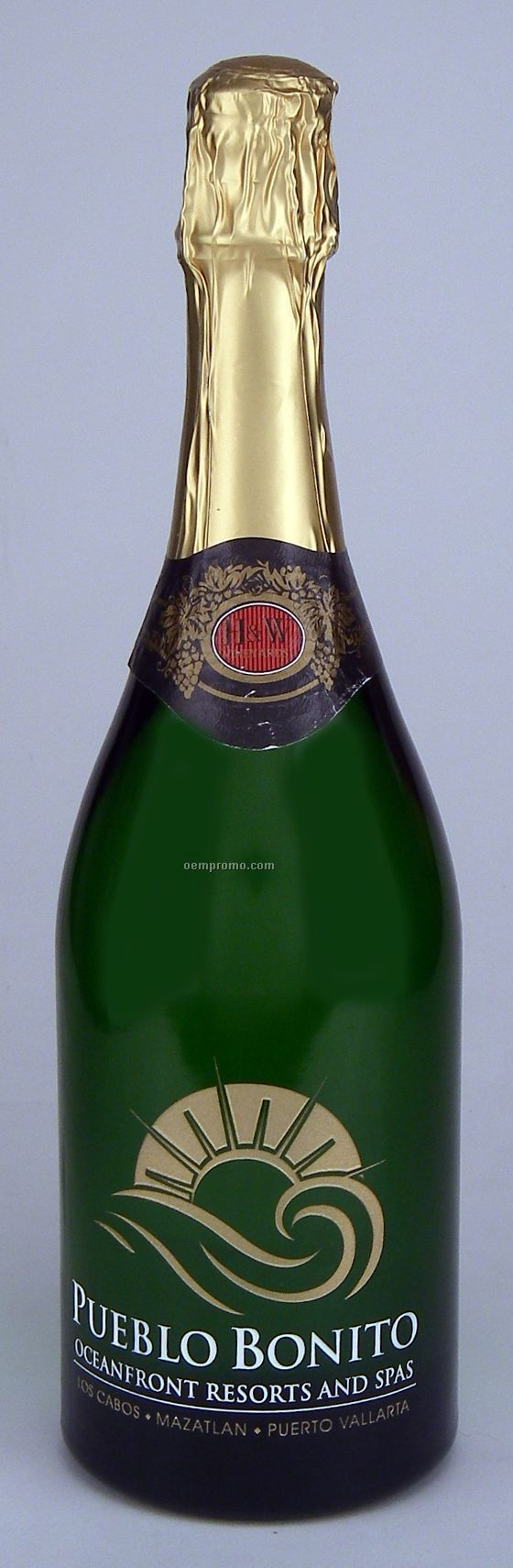 750ml Standard Non-alcoholic Sparkling Grape Juice Etched With 2 Color Fill