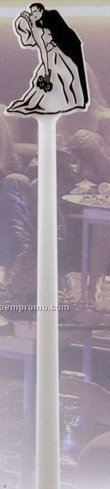 Deluxe Bride & Groom Stirrer (Imprinted)