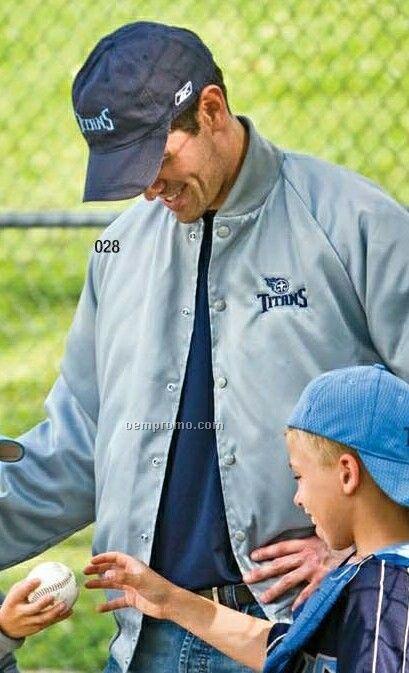 Dunbrooke Adult Quilt Lined Oxford Baseball Jacket