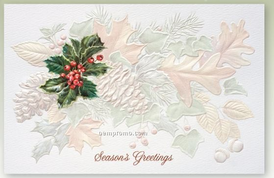 Naturally Festive Recycled Holiday Card W/ Lined Envelope