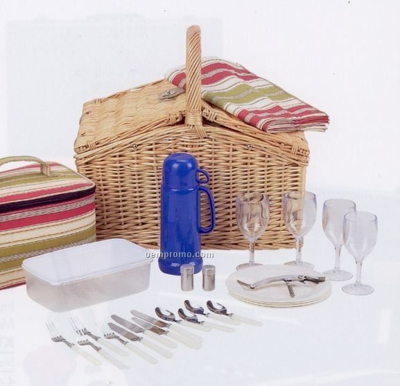 Maxam 28-piece Picnic Basket (Standard Service)