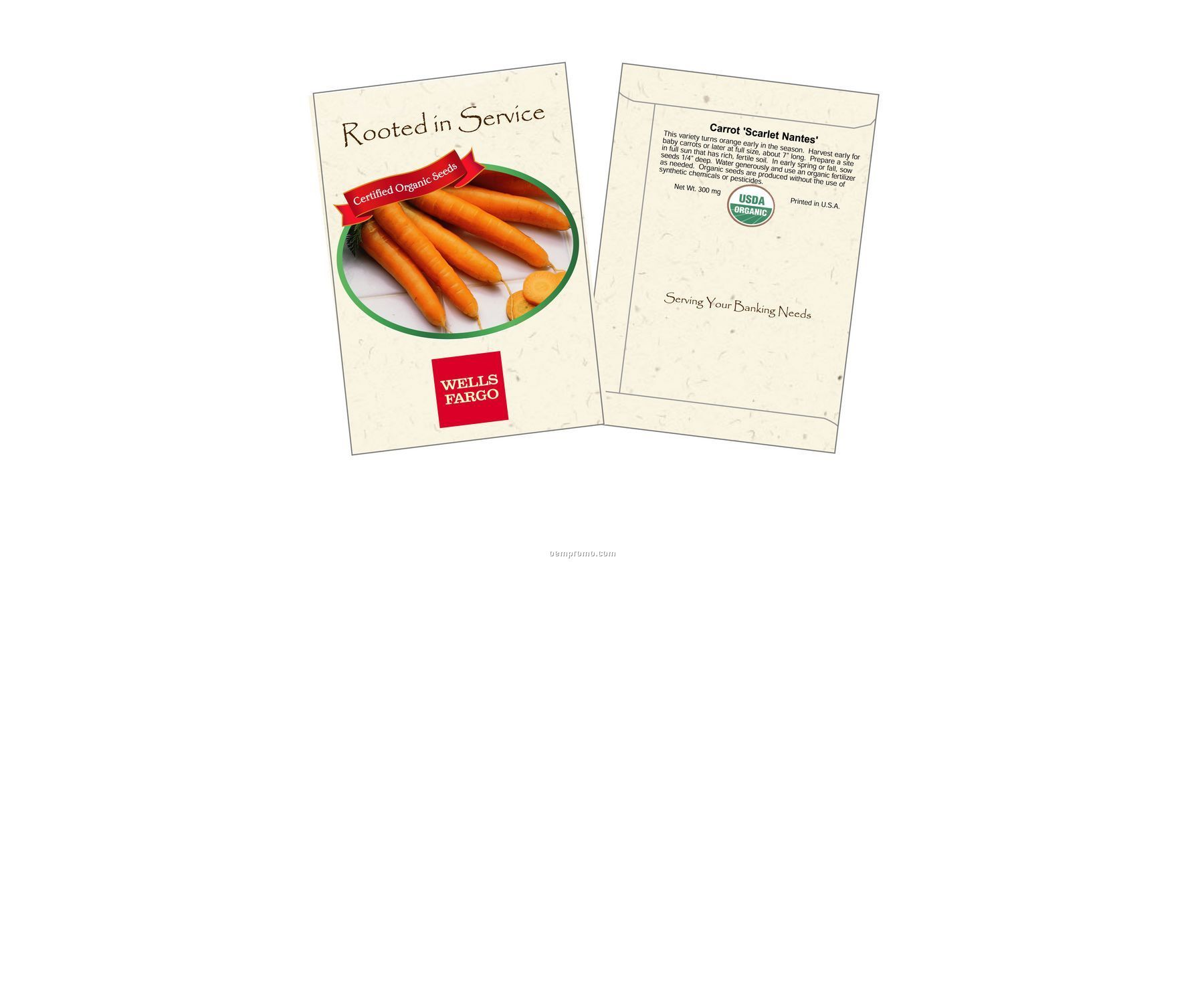 Organic Carrot - Scarlet Nantes Seed Packets (2 Color)
