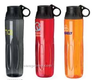 24 Oz. Tritan Colored Water Bottle W/Twist Off Lid And Carry Loop