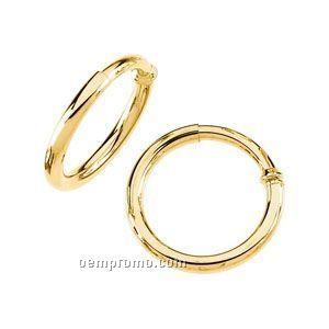 30mm Ladies' 14ky Non-pierced Hoop Earring
