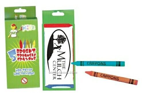 5 Pack Triangle Crayons
