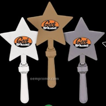 """7 1/2"""" White Star Hand Clappers"""