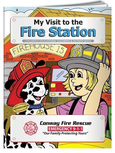 Coloring Book - My Visit To The Fire Station With Dolly Dalmatian