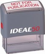 Ideal 50 Self-inking Rubber Stamp