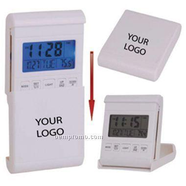 Travel Alarm Clock W/LED Back Light