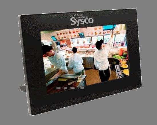 Zouk Design Digital Photo Frame W/ Mp3 Player & Internal Speakers