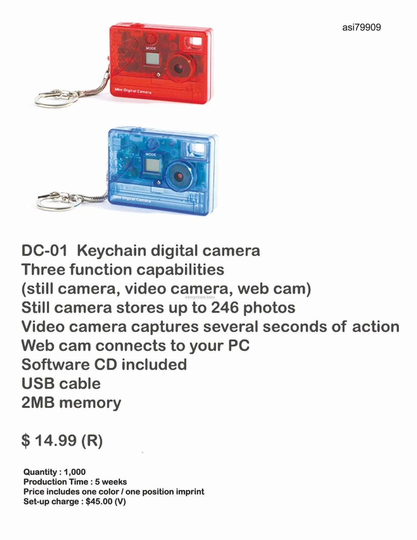 Digital Camera With Keychain