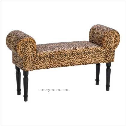 Luscious Leopard Accent Bench