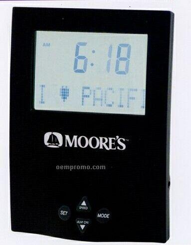 Pre-programmed Desktop Message Clock