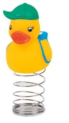 Rubber Student Duck Bobble