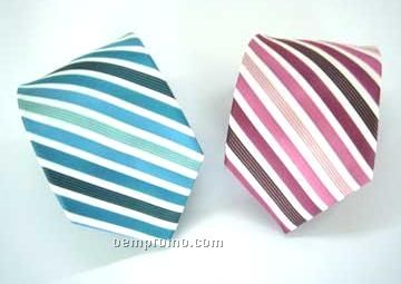 Silk Necktie - Multi-tone Stripe