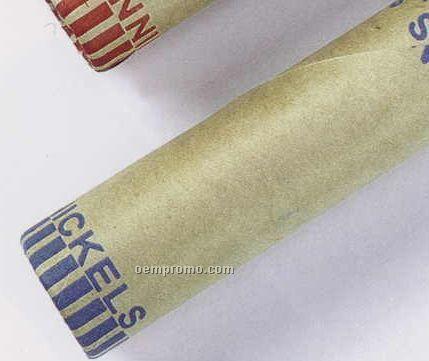 $.05 Cartridge/Shotgun Kraft Coin Wrapper In Neat Pack ($2.00 Roll)