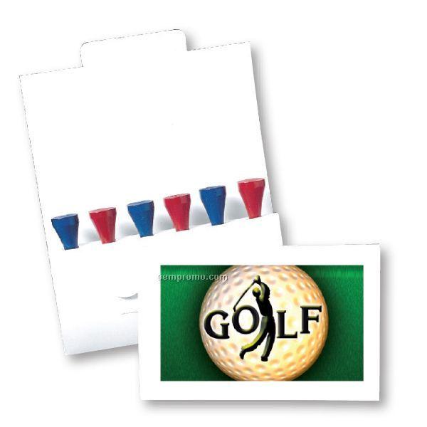 6 Tee Golf Pack W/ Ball Marker