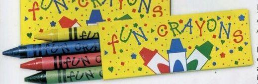 Stock 4 Pack Premium Crayons In Confetti Box