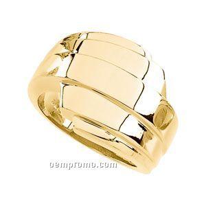 14ky 16-1/4mm Ladies' Metal Fashion Ring