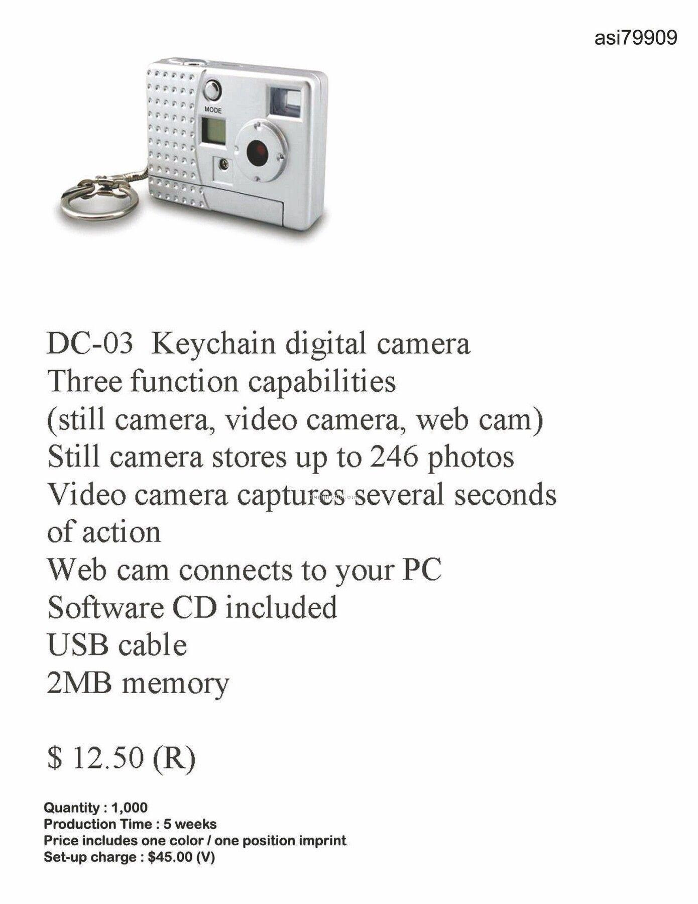 3 Function Keychain Digital Camera