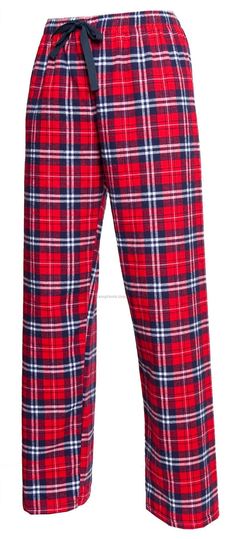 Adult Team Pride Flannel Pant In Navy Blue & Red Plaid