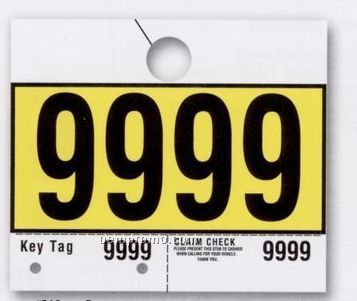 """Consecutively Numbered Service Department Hang Tag (7""""X6"""")"""