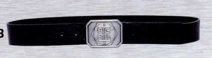 Leather Belt W/ Bolt Logo Buckle
