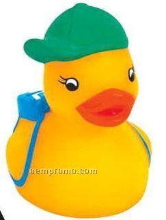 Mini Rubber Student Duck
