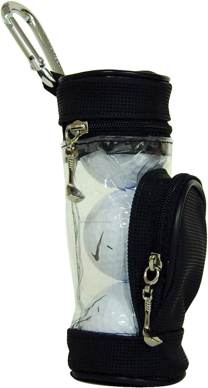 Nike One Tour Golf Ball (2010 Model) - 3 Pack Mini Golf Bag W/ 4 Tees