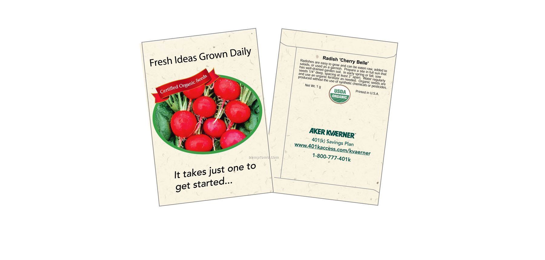 Organic Radish - Cherry Belle Seed Packets (1 Color)