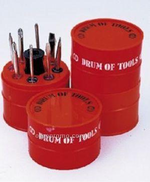 Round Drum Of Tools