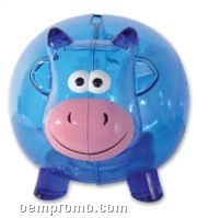 Translucent Blue Cow Bank (Printed)