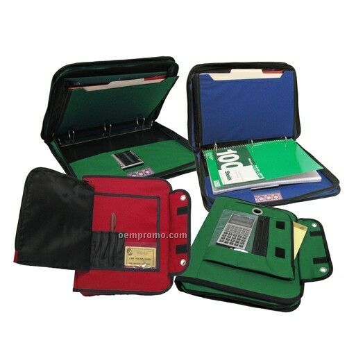3 Ring Binder Organizer With Zipper Closure (11
