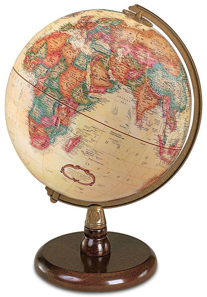 Quincy Antique Ocean Globe
