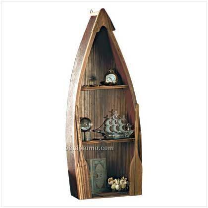 Rowboat Curio Cabinet