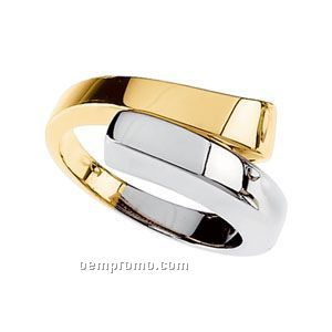 14ktt 11mm Ladies' Metal Fashion Ring