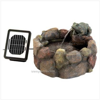 Frog Hollow Solar Fountain