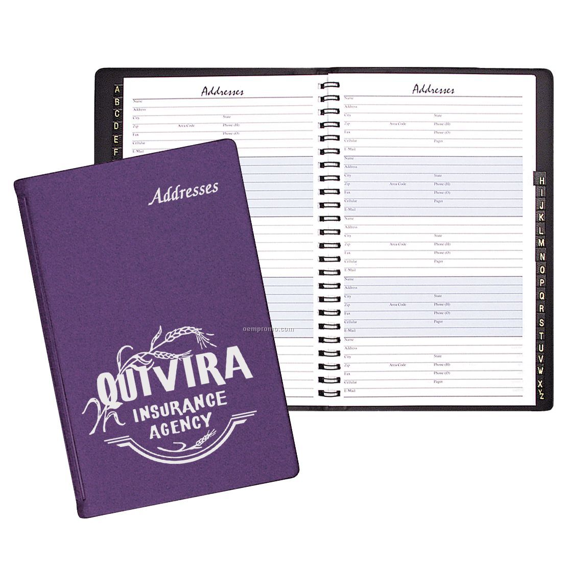 Large Address Book/Frosted Cover