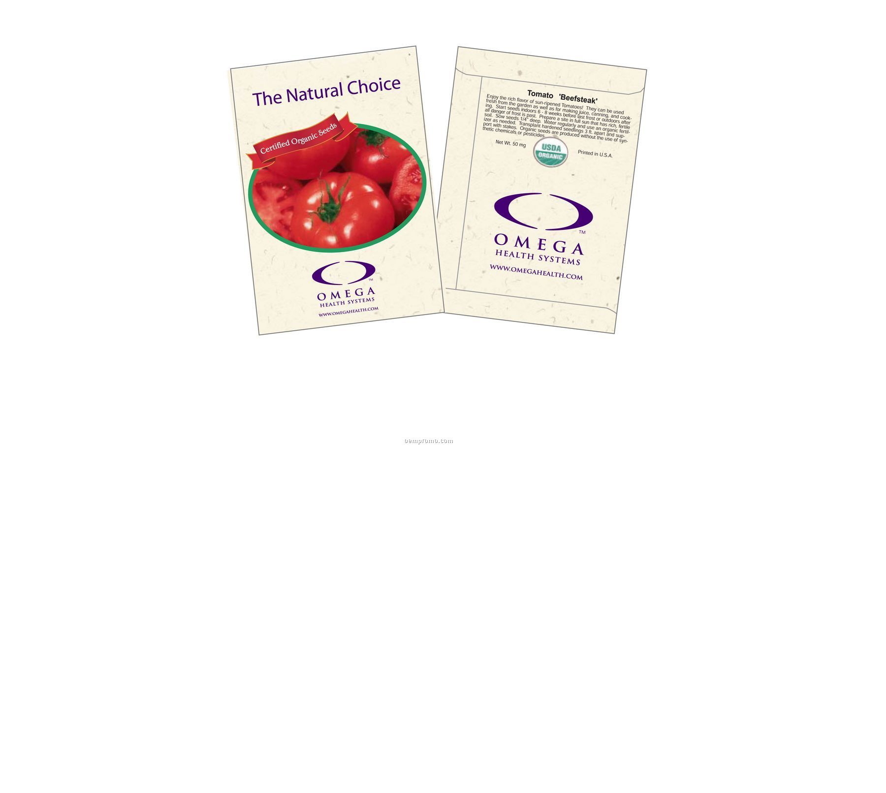 Organic Tomato - Beefsteak Seed Packets (2 Color)