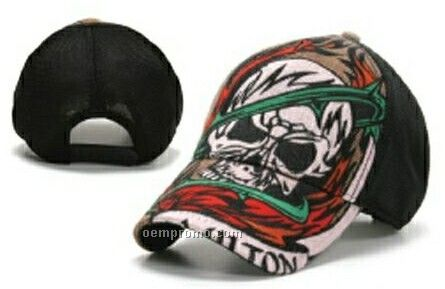 Stock Skull With Cap With Adjustable Snap Closure