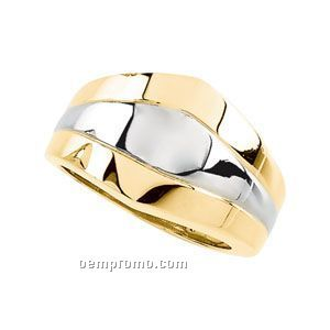 14ktt 13mm Ladies' Metal Fashion Ring