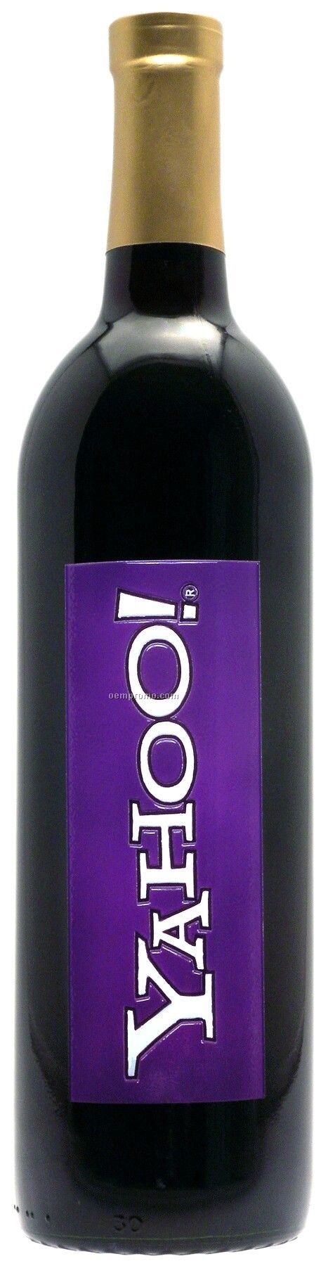 750ml Standard Merlot Wine Etched With 2 Color Fill