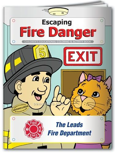 Coloring Book - Escaping Fire Danger With Fiera The Cat