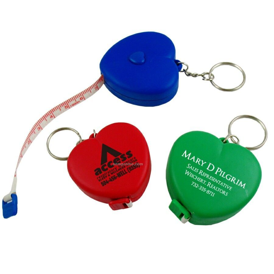 Heart Tape Measure W/ Key Chain