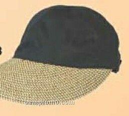 Ladies Cap W/ Straw Bonnet Bill